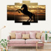 Beautiful Horse Shadow 5 Piece HD Wall Frame