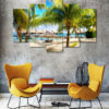 Beach 5 Piece Wall Frame