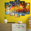 Painting Art 5 Piece HD Wall Frame
