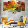 River Painting 5 Piece HD Wall Frame