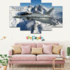 Fighter Jet 5 Piece HD Wall Frame
