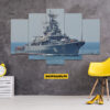 Military Ship 5 Piece HD Wall Frame