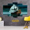 Ship 5 Piece HD Wall Frame