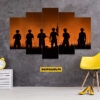 Soldier 5 Piece HD Wall Frame