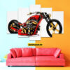 bike 5 Piece HD Wall Frame